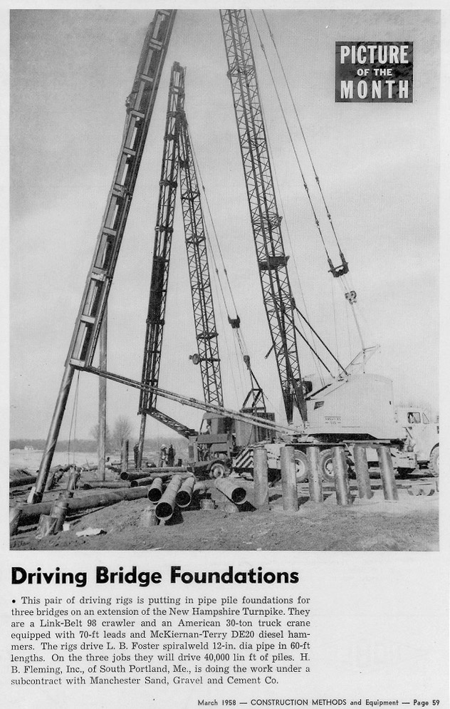 This page is from a featured article in CONSTRUCTION METHODS and Equipment in 1958.