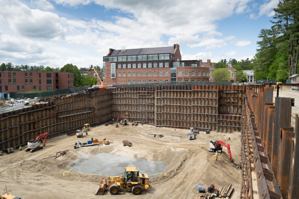 H. B. Fleming excavaction/support at Dartmouth