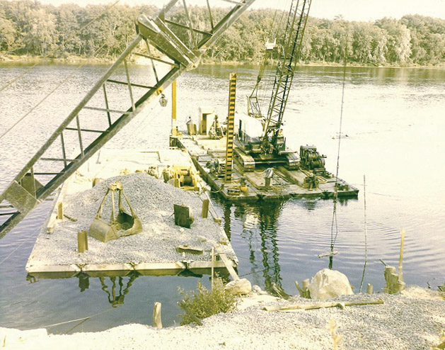 This picture was taken in 1970 on the Kennebec River in Waterville, ME
