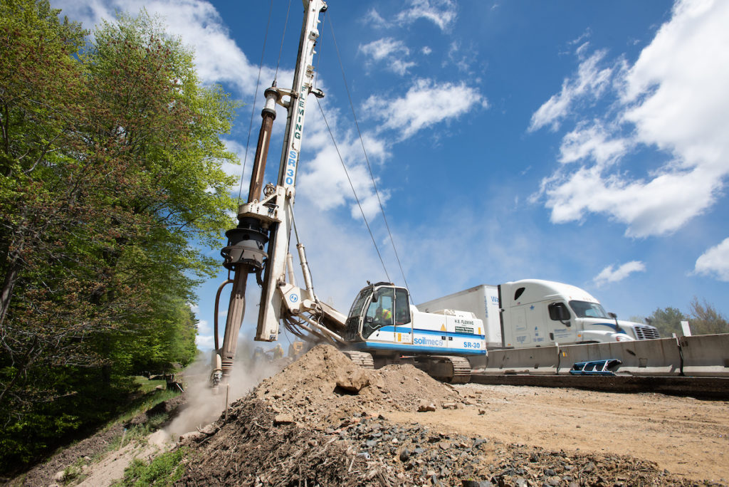 H. B. Fleming drilling for York toll plaza